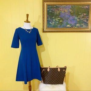 Blue Ann Taylor A-line Dress